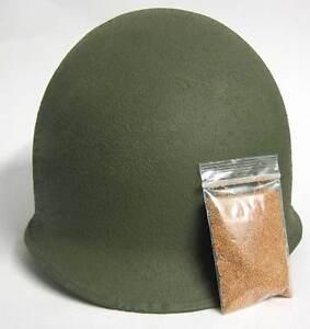 M1-M2-M1C-Helmet-Cork-Texture-Grains-Dust-WW2-USA-Army-U-S-Camouflage-WWII