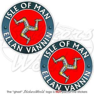 ISLE-of-MAN-ELLAN-VANNIN-TT-Racing-UK-Vinyl-Bumper-Sticker-Decal-75mm-3-034-x2