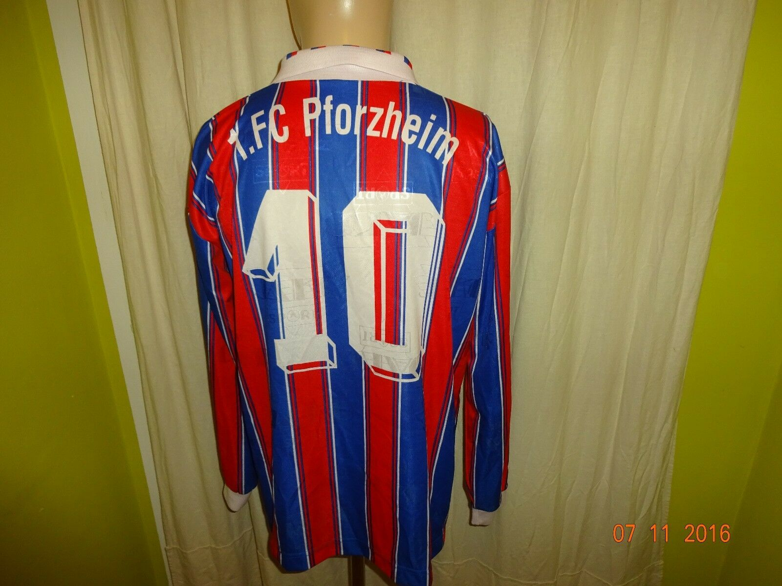 1.FC Pforzheim Jako Langarm Matchworn Trikot 1996/97