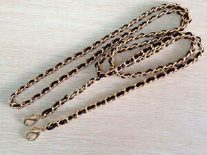 Chain-amp-REAL-Leather-Shoulder-Crossbody-Handbag-Purse-Strap-Replacement-THIN-6mm