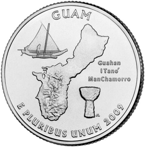"Statehood Quarter Uncirculated Roll of 40 /"" P /"" Mint #53 2009 Guam GU"