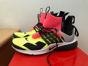 sale retailer 8bcbb 5df4e Image is loading Nike-Air-Presto-Mid-Acronym-Hot-Lava-Volt-