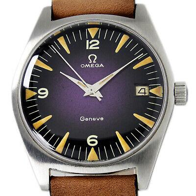 Omega Geneve Date Two Tone Purple Men's 1959s Winding Wrist Watch 136.041  | eBay