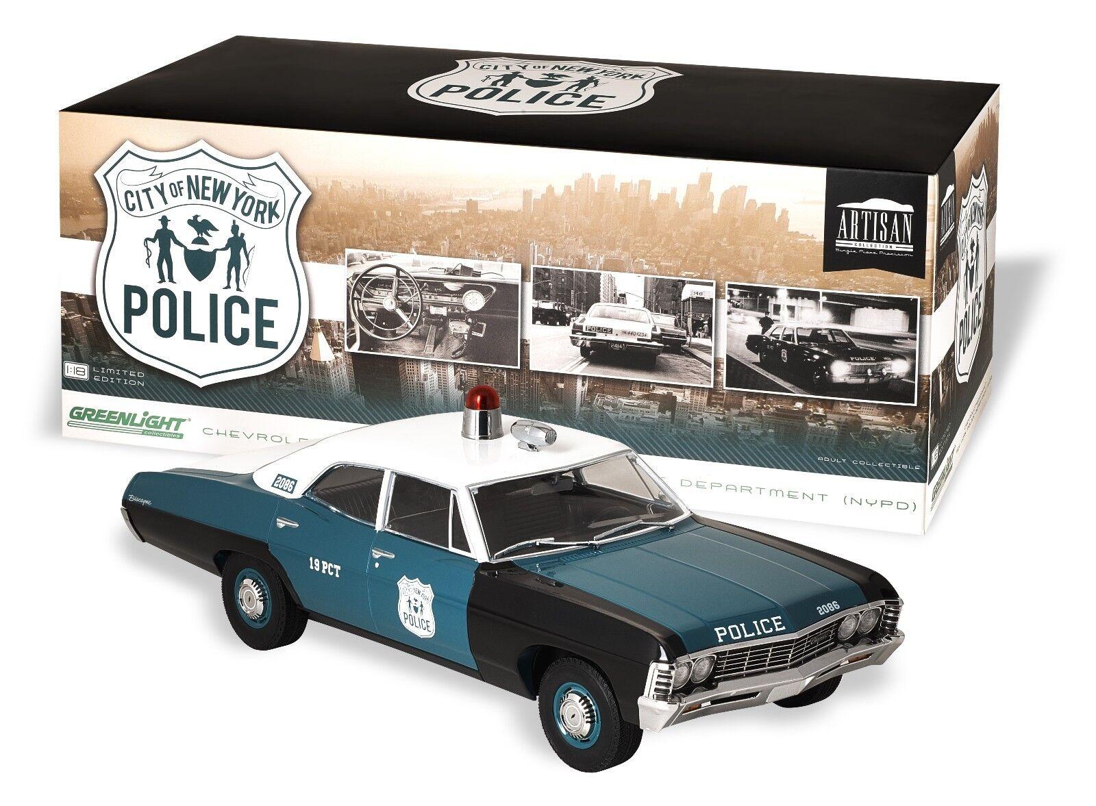 verdelight 1 18 Departamento de Policía de Nueva York New York City NYC policía CHEVY BISCAYNE 1 de 1000