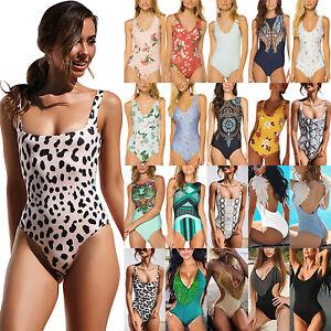 0f594b038 Women Push Up Monokini One-piece Swimwear Swimsuit Beach Bathing ...
