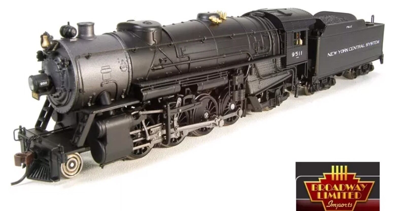 Broadway Limited 4650 HO USRA Heavy Mikado NYC  9509 Locomotive w Sound DC  DCC