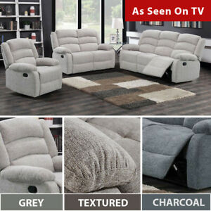 Peachy Details About Grayson Grey Sofa Suite Dark Light Grey Fabric Recliner Set 3 2 1 Seater Pdpeps Interior Chair Design Pdpepsorg