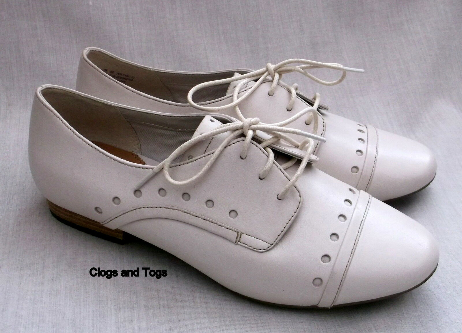 NEW CLARKS ACTIVE AIR HENDERSON LADY femmes OFF-blanc LEATHER chaussures 6.5   40