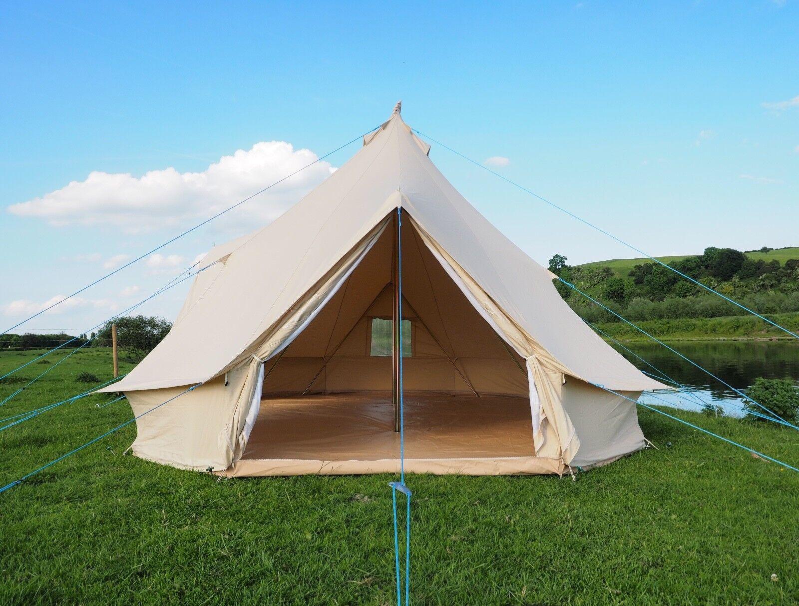 Emperor Bell Tent 100% Canvas Zipped dans Groundsheet Groundsheet Groundsheet by Bell Tent boutique. 48b1e5