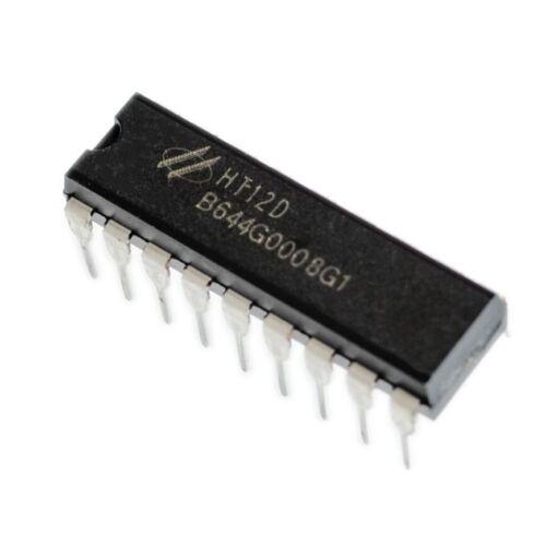 5PCS NEW Hotek HT12D HT-12D DIP-18 IC Remote Decoder