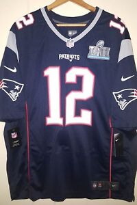 f841f3ea4d NIKE NFL New England Patriots Tom Brady  12 Super Bowl LII Jersey ...