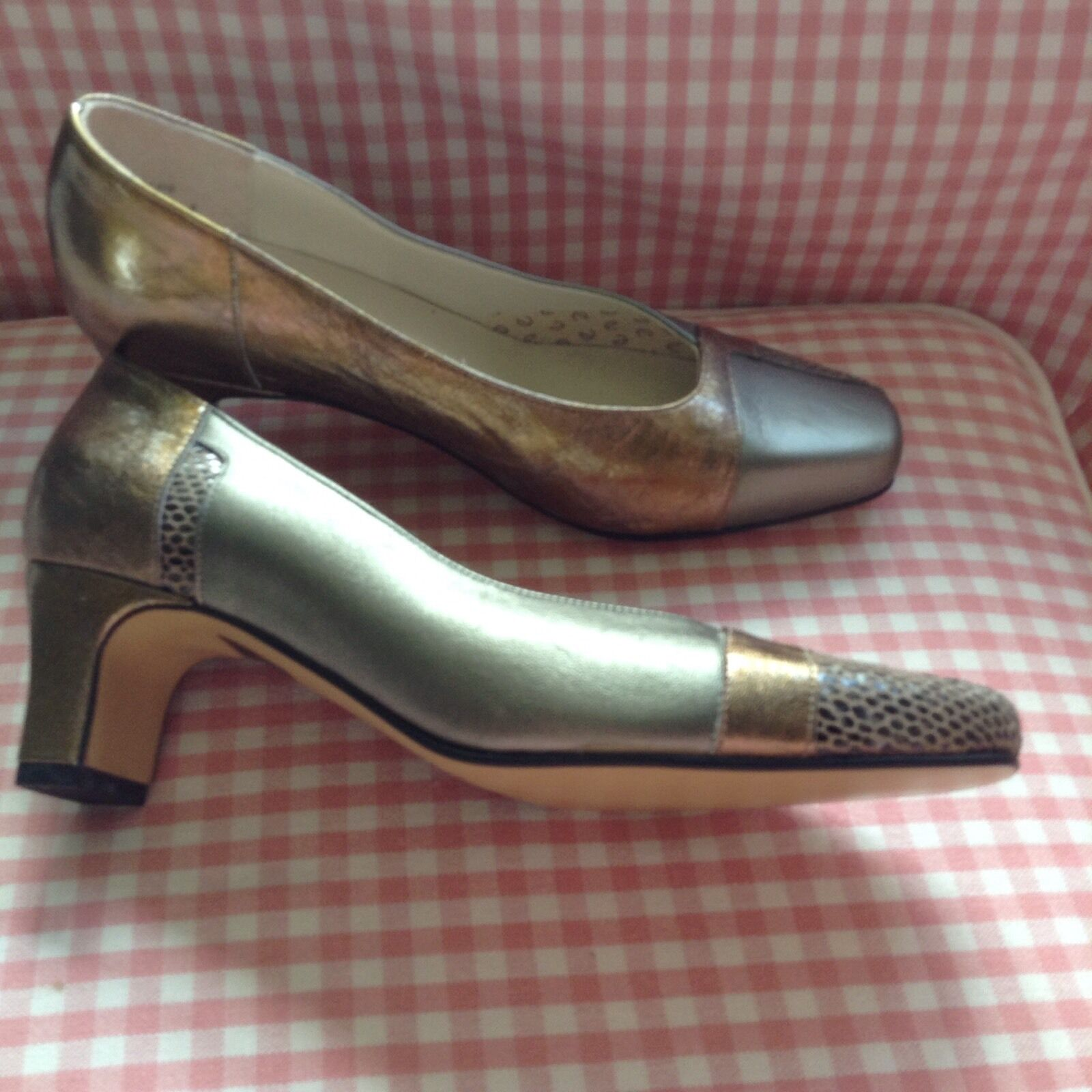 Equity bronze leather court shoes size 4.5 (EU 37)