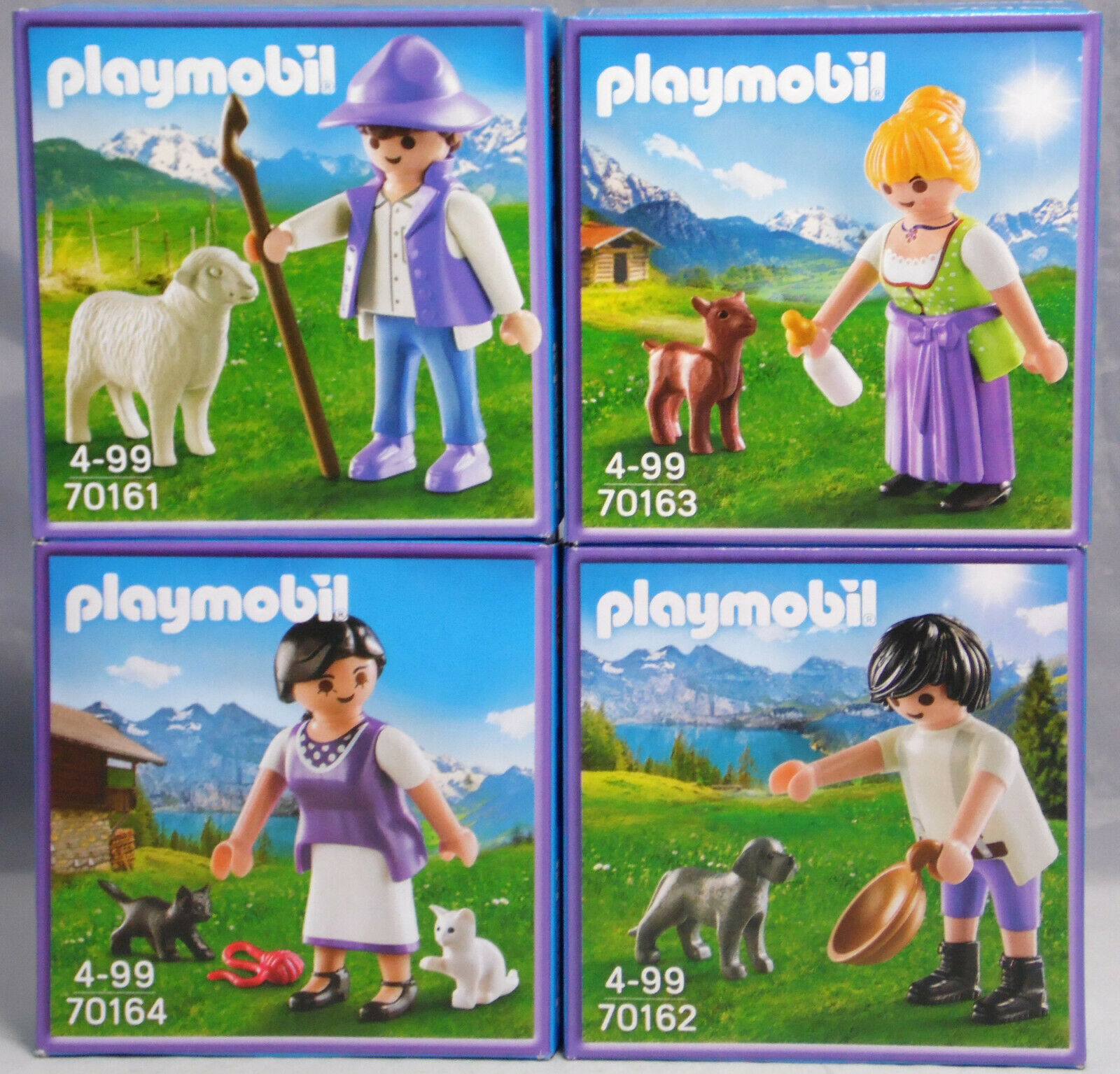 PLAYMOBIL 4 x Milka Sonderfigur Promo 70161 70162 70162 70162 70163 70164 Set NEU    Neue Sorten werden eingeführt  5556d0