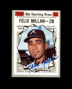 Felix Millan Hand Signed 1970 Topps All Star Atlanta Braves Autograph