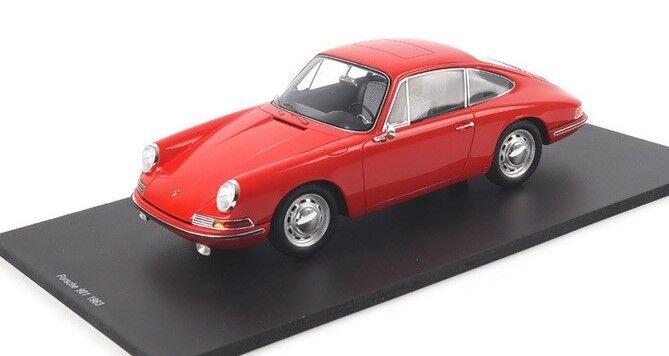 Porsche 901 Rouge Résine Voiture Modélisme en 1 18 Echelle par Spark