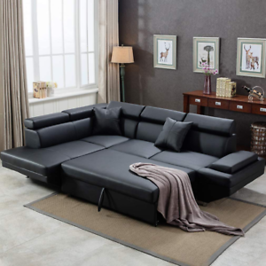 Incredible Details About Sofa Sectional Sofa Bed Living Room Corner Sofa Bed Sleeper Faux Leather Gmtry Best Dining Table And Chair Ideas Images Gmtryco