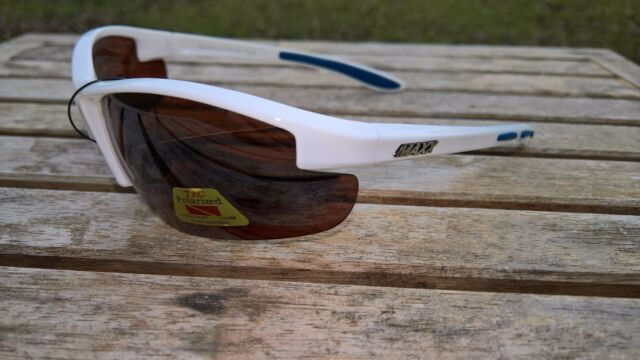f79ee6bc2f0 Maxx HD Sunglasses Raven 2.0 White golf driving lens brown fishing polarized  D4