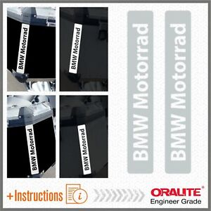 2x-BMW-Motorrad-Bianco-Grigio-REFLECTIVE-ADESIVI-R-1200-1150-F800-F650-F700-GS