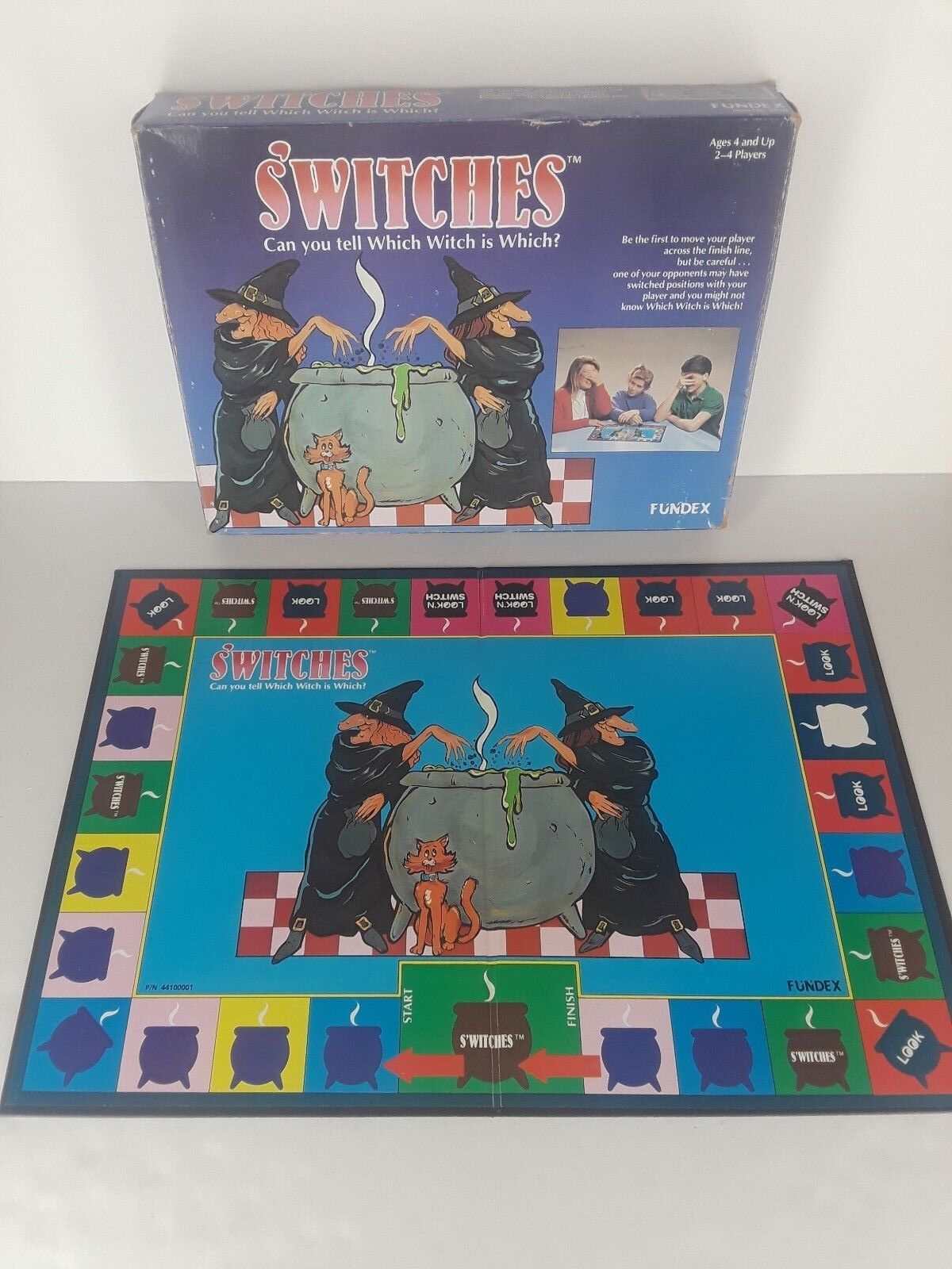 S'Witches 1989 Vintage Fundex Game Box and Board Not Complete Halloween Witches
