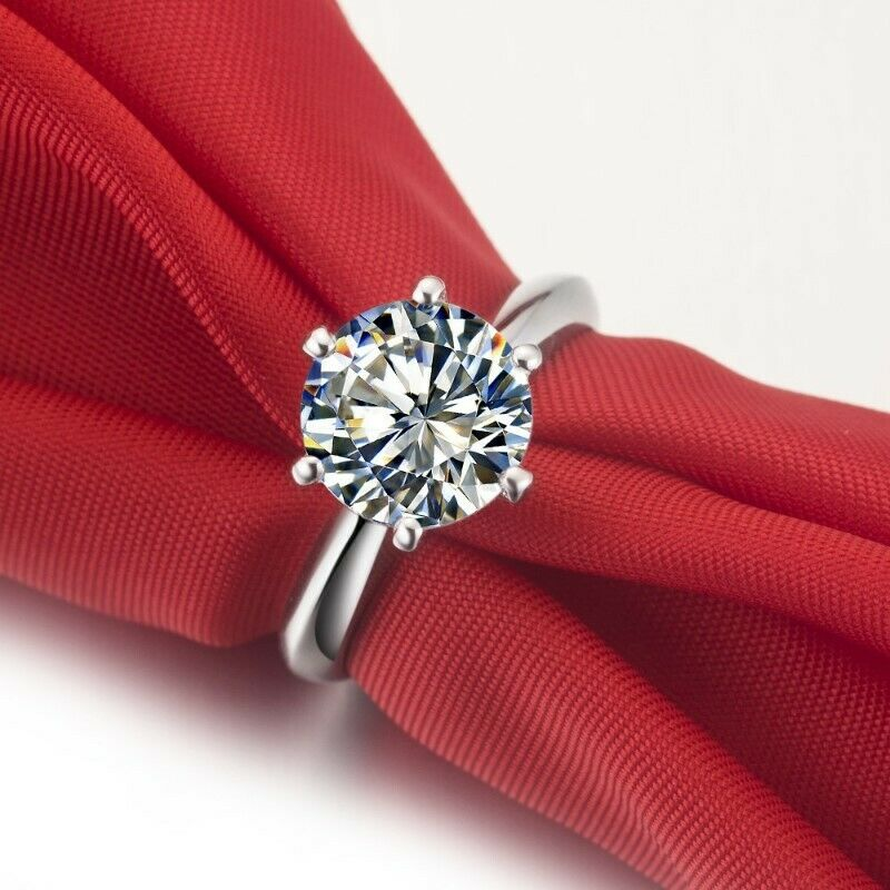 Six Claw Romantic Style 2Carat Top Brand Round Brilliant Lovely Diamond Engagement Ring