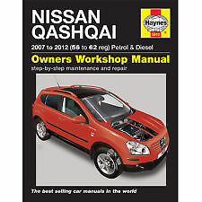 Haynes Nissan Qashqai Petrol & Diesel (07 to 12) 56 to 62 Service Manual 5610b