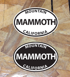 Mammoth Mountain Lakes CA California Sticker Decal Oval Black /& White 2 for 1