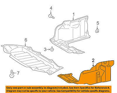TOYOTA OEM Corolla Splash Shield-Under Engine / Radiator ...