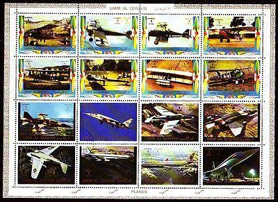 Luftfahrt Umm Al Qiwain 1972 Vfu Mi.1274/89 A Flugzeuge Aeroplane Exquisite Handwerkskunst;