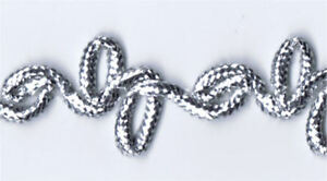 36-Yard-Bolt-of-1-2-034-Silver-Double-Loop-Gimp-Braid-Trim-46310