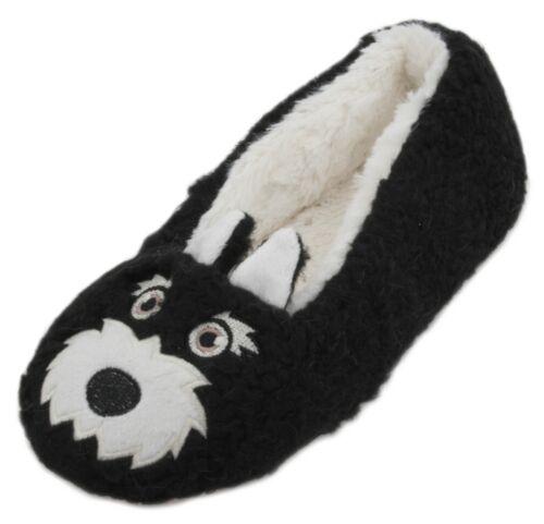 Slumberzzz Ladies Scottie Dog Character Ballet Slippers