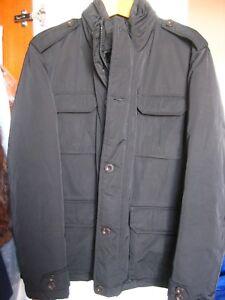 best website 304c8 266ec Dettagli su Giaccone Imbottito Field Jacket Uomo Colore Nero