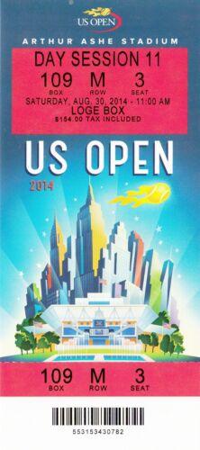 2014 US OPEN TENNIS NOVAK DJOKOVIC SERENA WILLIAMS SESSION #11 TICKET STUB 8//30