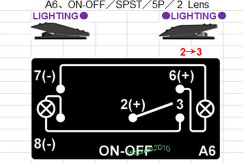 ON OFF Marine Waterproof Blue LED SPST-NO Momentary Boat Rocker Horn Switch