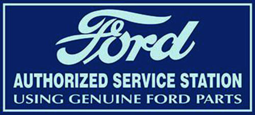 Ford Authorized Service Station Metal Sign