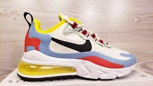 Nike Women S Air Max 270 React White Blue Red Yellow Black At6174