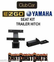 Golf Cart Rear Seat Kit Trailer Hitch With 2 Receiver (free Shipping)