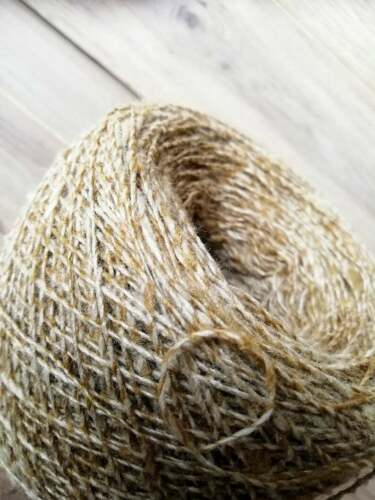 Yarn 100/% Natural Silk Yarn on cone Beige Golden Weaving Hand knitting 100 gr