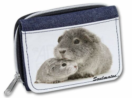 Silver Guinea Pigs /'Soulmates/' Girls//Ladies Denim Purse Wallet Christ SOUL-86JW