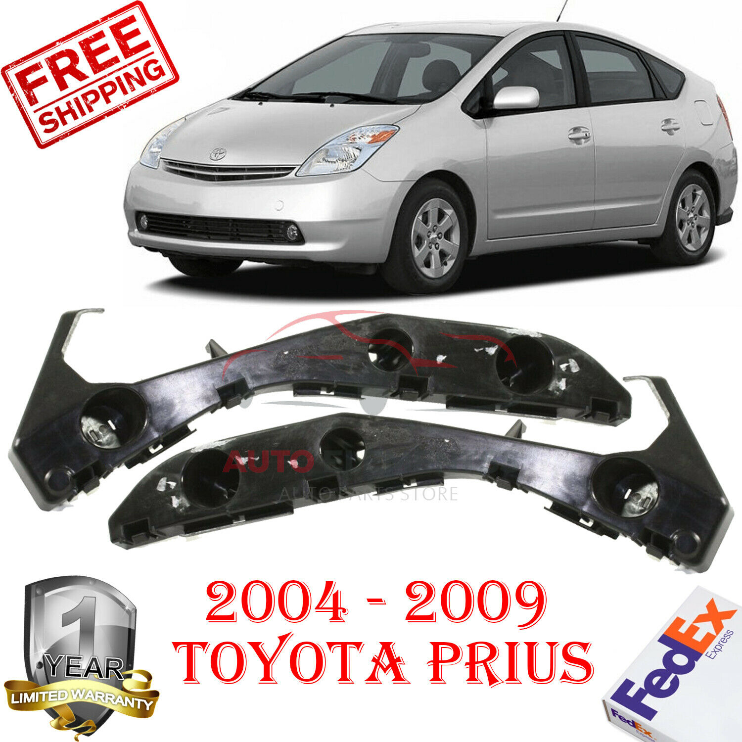New Front Left /& Right Pair LH RH BUMPER BRACKET For Toyota Prius Plug-In