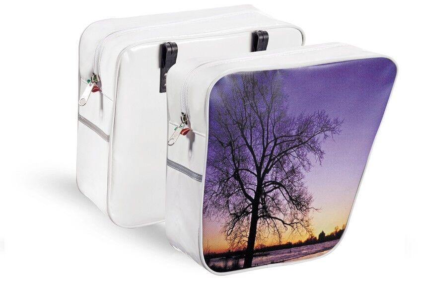 Fahrrad Packtasche Bike Gepäckträgertasche Doppeltasche Doppeltasche Doppeltasche Satteltasche 0041 Sunset 368d1d