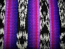 Handwoven Guatemalan Fabric - STRIPED, purple & black- 1-1/4 YARD, IKAT Ethnic
