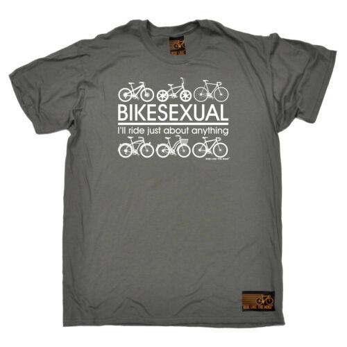 CICLISMO T-shirt Divertenti Novità T-Shirt Maglietta da uomo-bikesexual