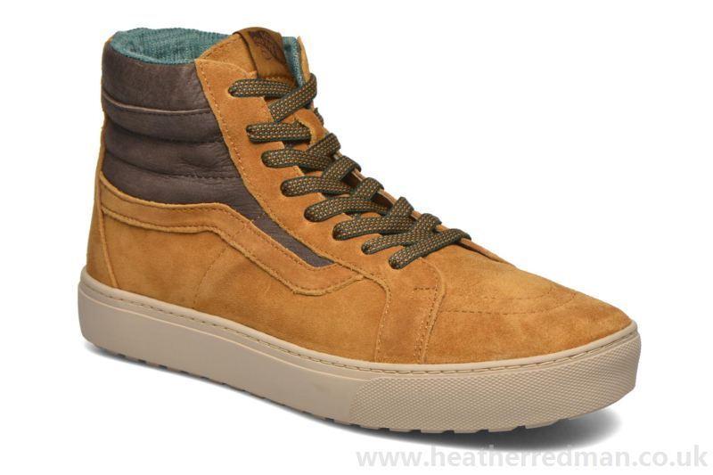 Vans Sk8 MTE Hi MTE Sk8 Cup Cathay Hummus Brown Suede Chaussures hommes 7.5 femmes 9 0d3662