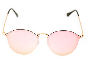 1f062a41f0 Ray-Ban RB3574N Blaze Round 001 E4 Gold Frame Pink Mirror Lenses ...