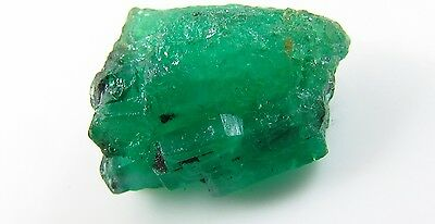 Natural Top 5.50 ct Uncut Premium Gem Colombian Emerald Cluster Mineral Specimen