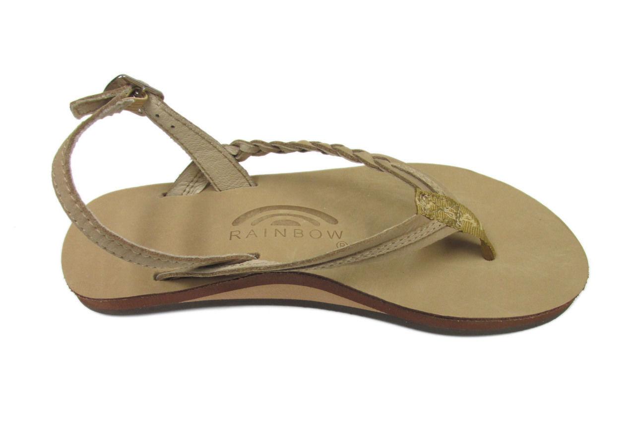 Donna Rainbow Avalon Braidy With Buckle Heel AVALON00 Sierra Brown 100%Authentic