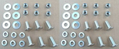 1950-70/'s GM BUICK CADILLAC CHEVY OLDS 12 HIGH QUALITY ST STL BUMPER BOLTS//NUTS