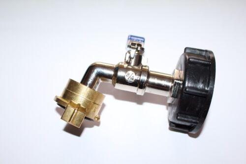 """IBC Adapter mit 3//4/"""" Auslaufhahn Regenwasser Tank 1000l Wassertank Anschluss #65"""