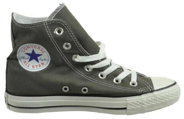 Converse Chuck Taylor Hi Top Charcoal Grey Canvas Shoes 1j793 8.5 ...