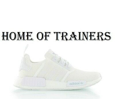 7a45638be Adidas Originals NMD Runner Triple White Men s Trainer All Sizes S79166